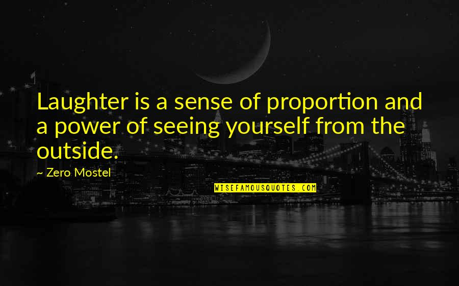 Proportion'd Quotes By Zero Mostel: Laughter is a sense of proportion and a