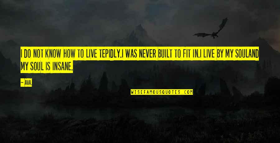 Prose And Poetry Quotes By AVA.: i do not know how to live tepidly.i
