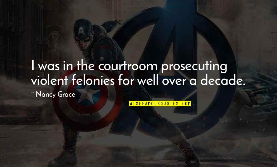 Prosecuting Quotes By Nancy Grace: I was in the courtroom prosecuting violent felonies