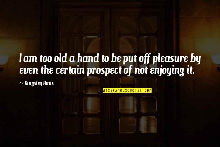 Prospect Quotes By Kingsley Amis: I am too old a hand to be