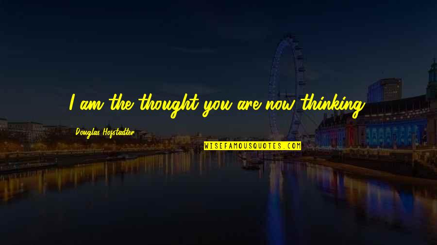 Prosumer Quotes By Douglas Hofstadter: I am the thought you are now thinking.