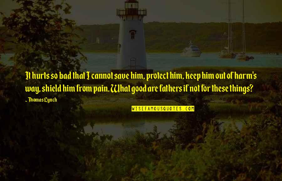 Protect Him Quotes By Thomas Lynch: It hurts so bad that I cannot save