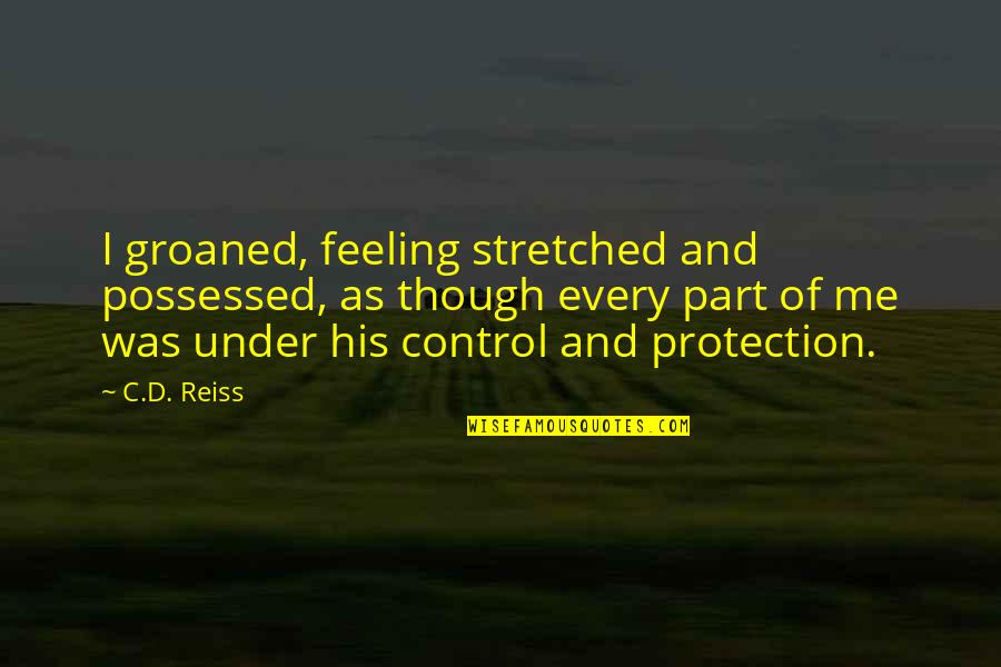 Protection Quotes By C.D. Reiss: I groaned, feeling stretched and possessed, as though