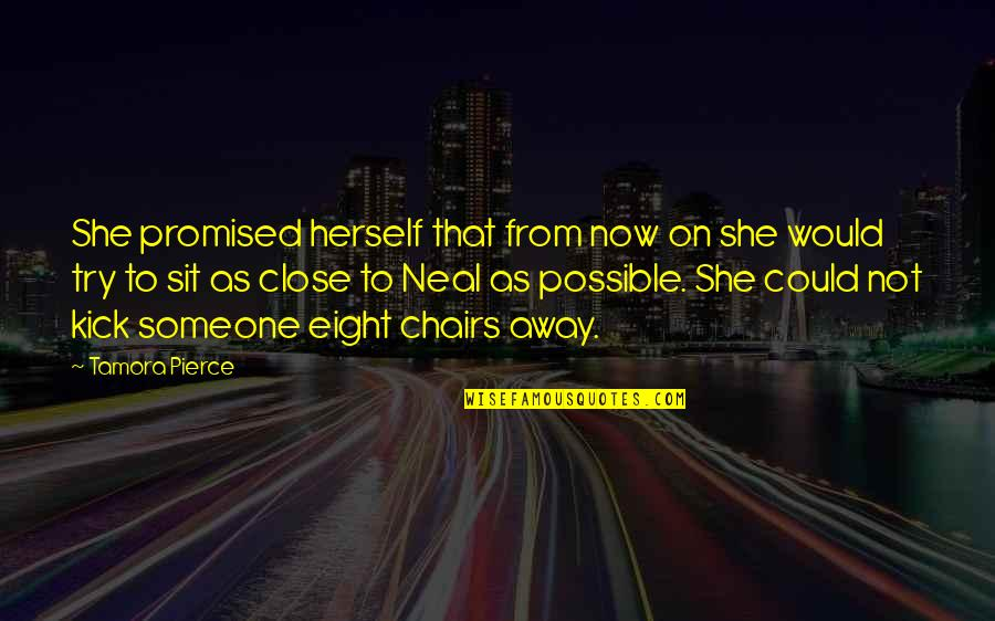 Protector Quotes By Tamora Pierce: She promised herself that from now on she