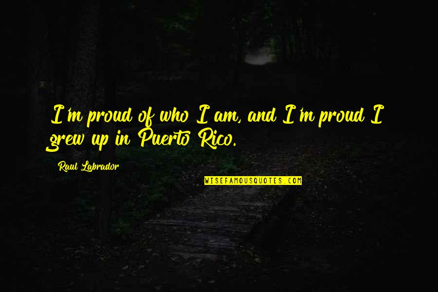Proud Of Who I Am Quotes By Raul Labrador: I'm proud of who I am, and I'm