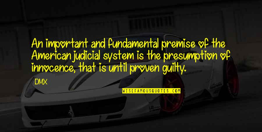 Proven System Quotes By DMX: An important and fundamental premise of the American