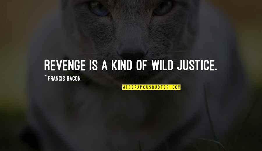 Proverbs 31 Woman Quotes By Francis Bacon: Revenge is a kind of wild justice.