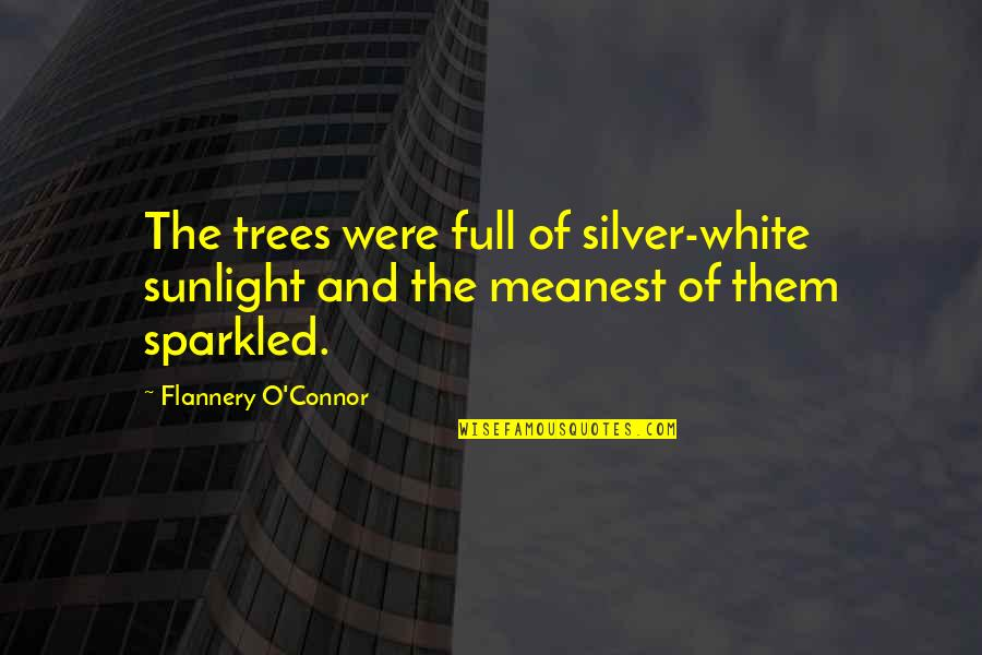Providential Quotes By Flannery O'Connor: The trees were full of silver-white sunlight and