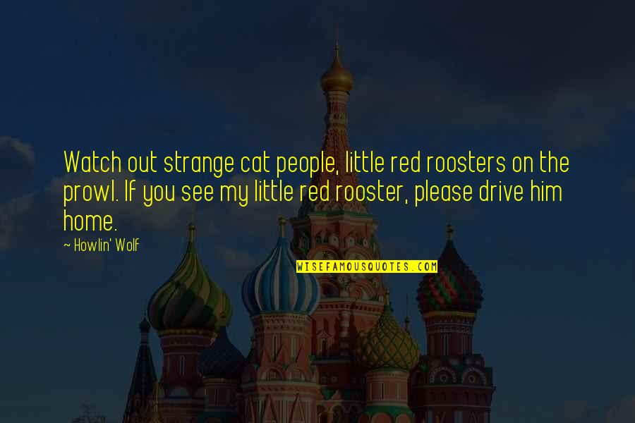 Prowl Quotes By Howlin' Wolf: Watch out strange cat people, little red roosters