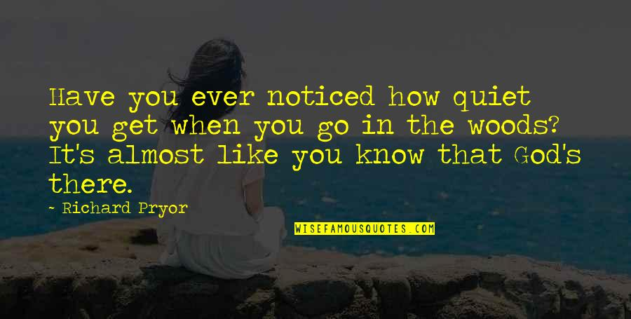 Pryor's Quotes By Richard Pryor: Have you ever noticed how quiet you get