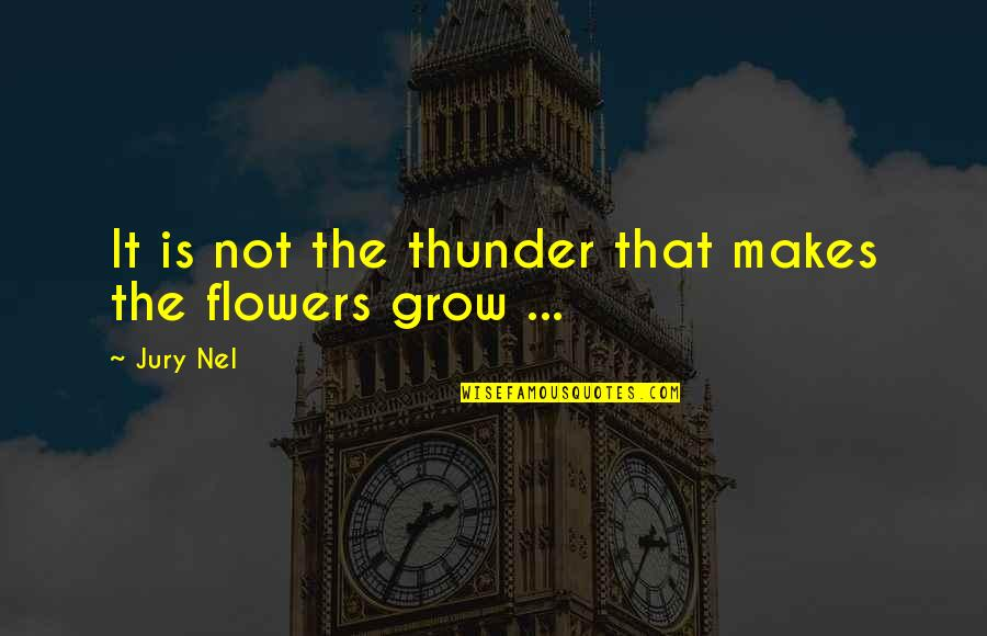 Psychotic Girlfriend Quotes By Jury Nel: It is not the thunder that makes the