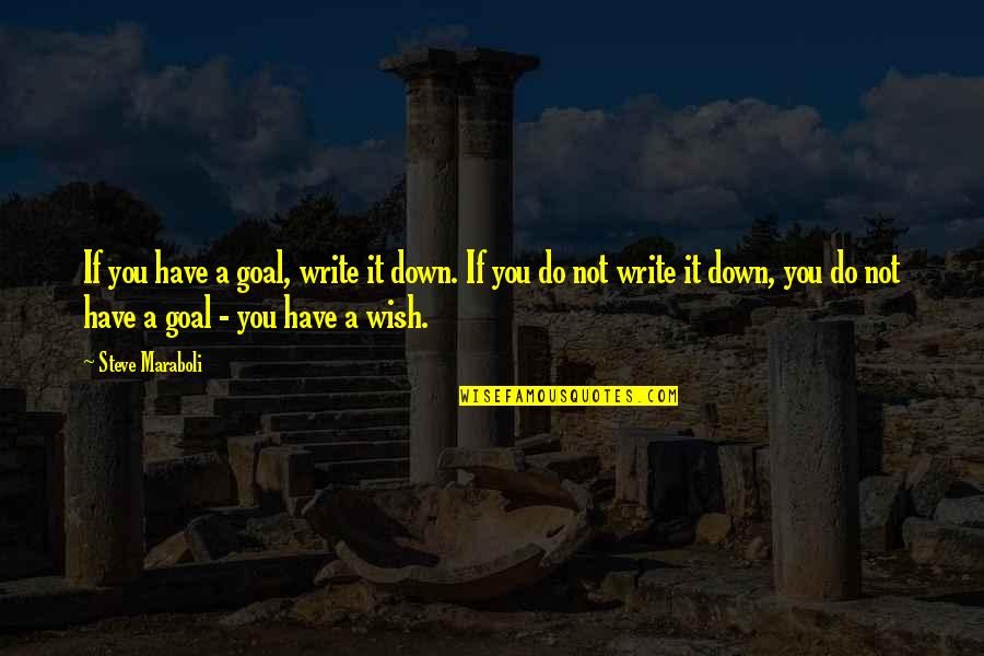 Psychotic Girlfriend Quotes By Steve Maraboli: If you have a goal, write it down.