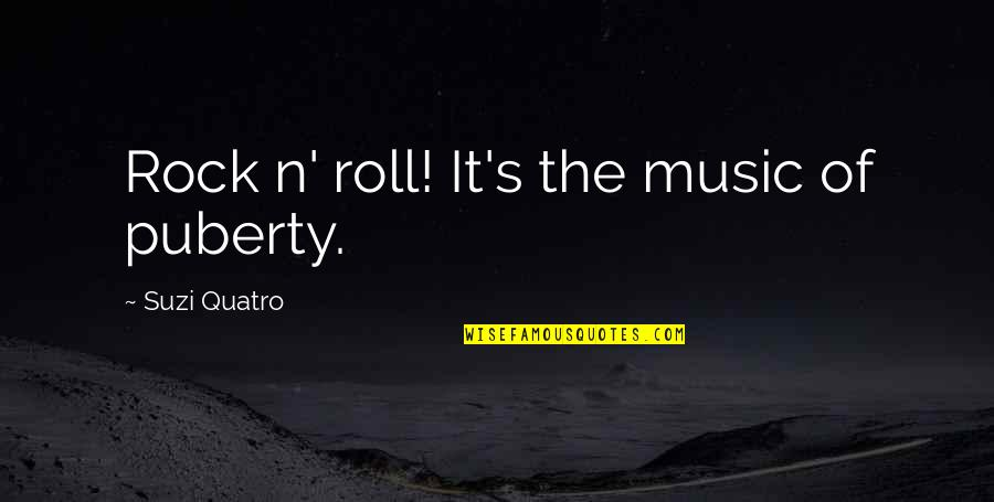 Puberty Quotes By Suzi Quatro: Rock n' roll! It's the music of puberty.
