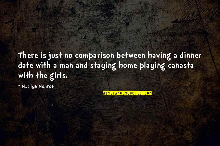 Pudency Quotes By Marilyn Monroe: There is just no comparison between having a