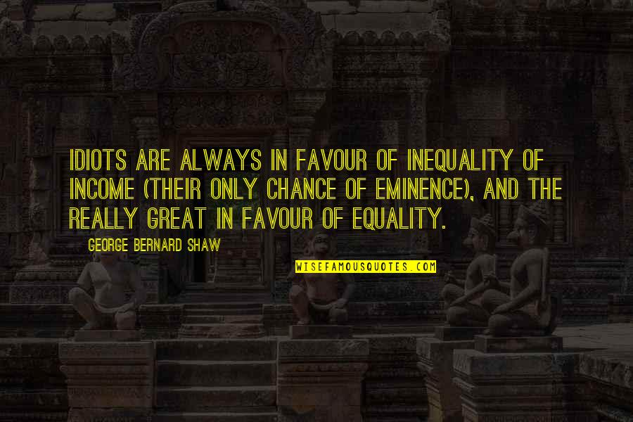 Puggle Quotes By George Bernard Shaw: Idiots are always in favour of inequality of