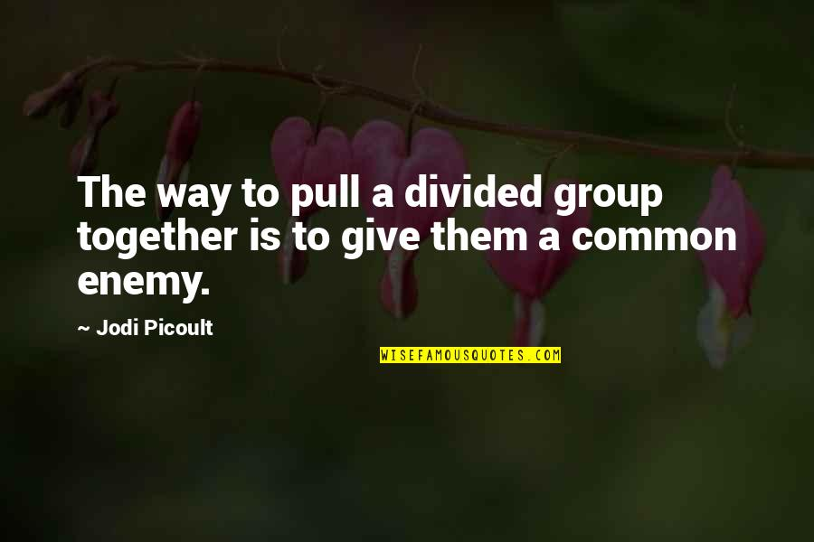 Pull Together Quotes By Jodi Picoult: The way to pull a divided group together