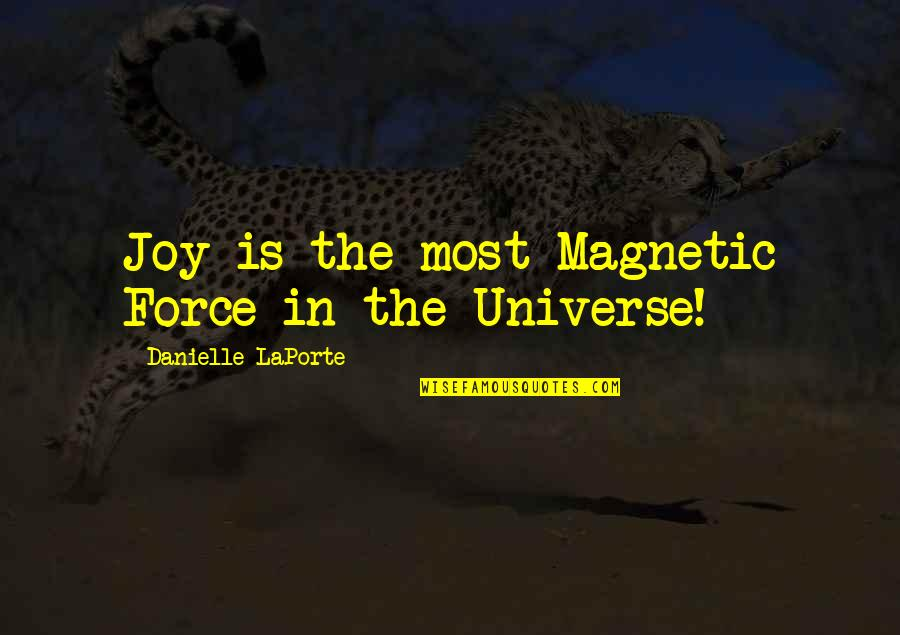 Pulling Wool Over Your Eyes Quotes By Danielle LaPorte: Joy is the most Magnetic Force in the