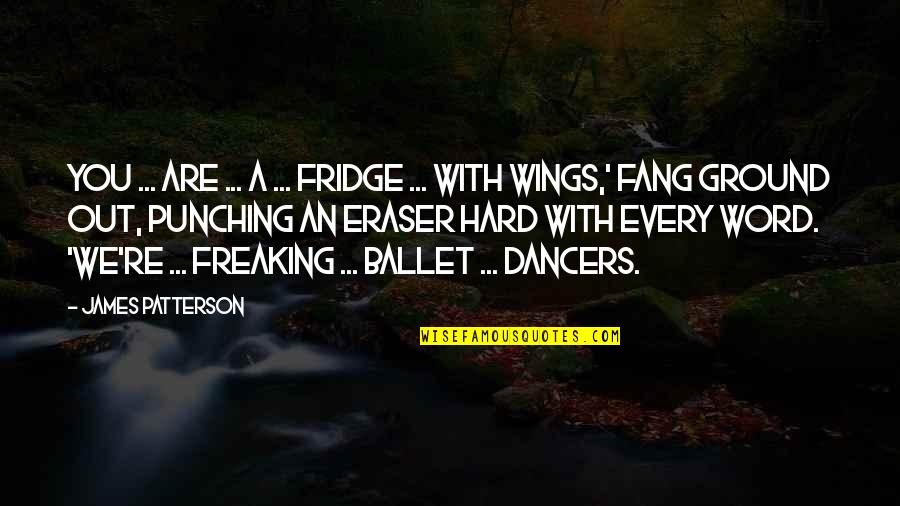 Punching Quotes By James Patterson: You ... are ... a ... fridge ...