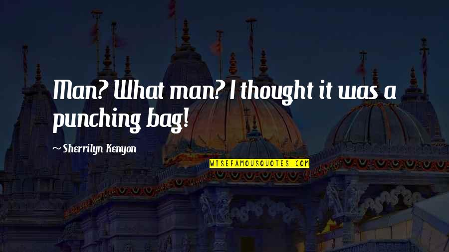 Punching Quotes By Sherrilyn Kenyon: Man? What man? I thought it was a