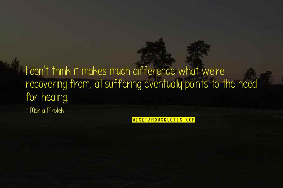 Punjaban Jatti Quotes By Marta Mrotek: I don't think it makes much difference what