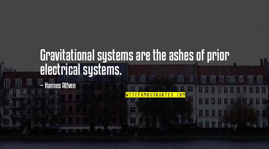 Punjabi Font Written Quotes By Hannes Alfven: Gravitational systems are the ashes of prior electrical