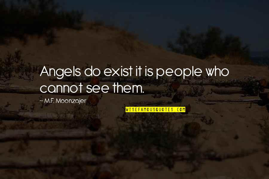 Punjabi Font Written Quotes By M.F. Moonzajer: Angels do exist it is people who cannot