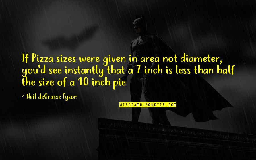 Puppet Augeas Quotes By Neil DeGrasse Tyson: If Pizza sizes were given in area not