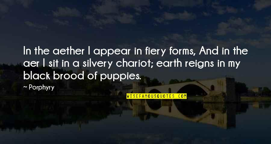 Puppies Quotes By Porphyry: In the aether I appear in fiery forms,