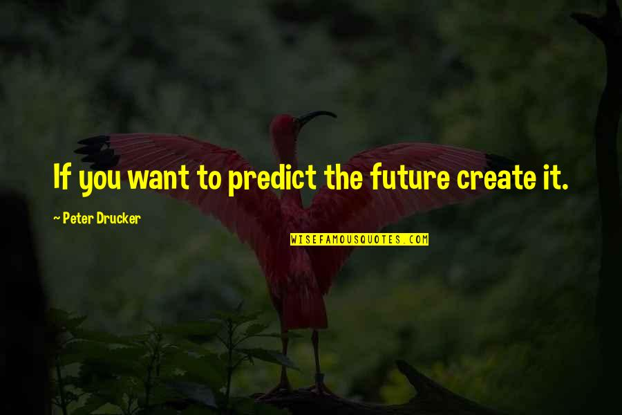 Purchased Life Annuity Quotes By Peter Drucker: If you want to predict the future create