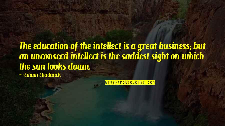 Pure Awesomeness Quotes By Edwin Chadwick: The education of the intellect is a great