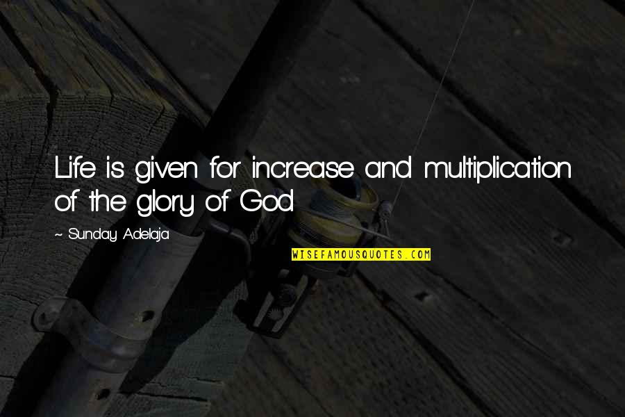 Purpose And Destiny Quotes By Sunday Adelaja: Life is given for increase and multiplication of