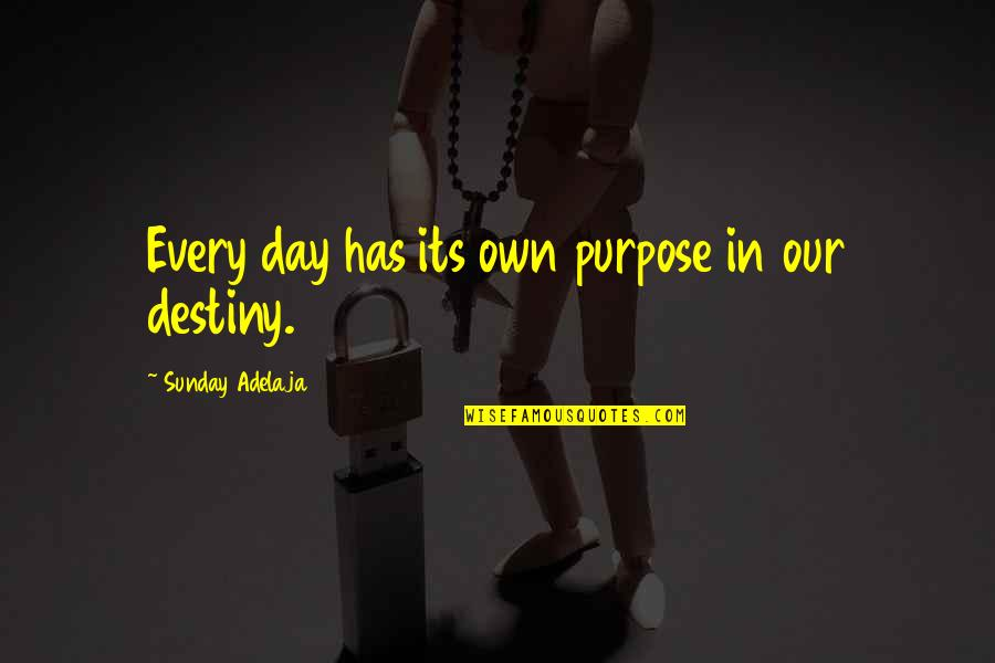 Purpose And Destiny Quotes By Sunday Adelaja: Every day has its own purpose in our