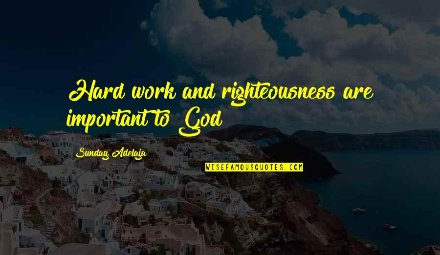 Purpose And God Quotes By Sunday Adelaja: Hard work and righteousness are important to God