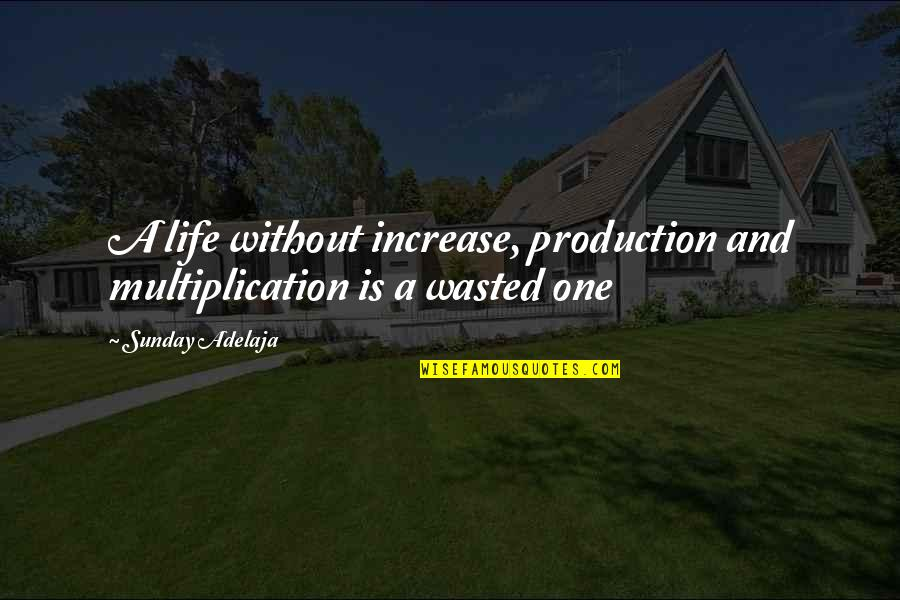 Purpose And God Quotes By Sunday Adelaja: A life without increase, production and multiplication is