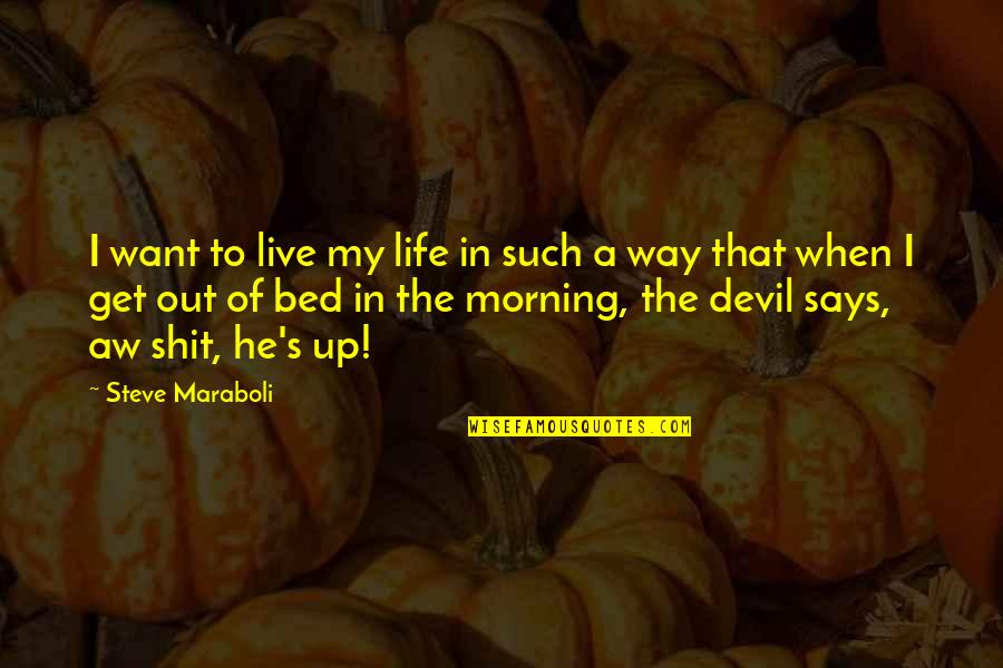 Purpose In Life Inspirational Quotes By Steve Maraboli: I want to live my life in such