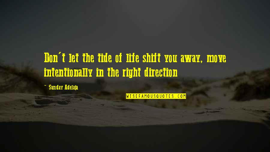 Purpose In Work Quotes By Sunday Adelaja: Don't let the tide of life shift you