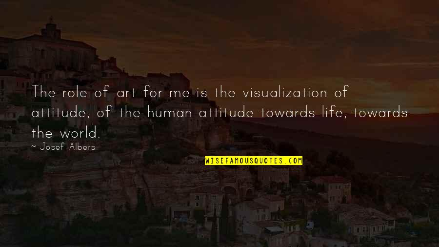 Purpose Of Human Life Quotes By Josef Albers: The role of art for me is the