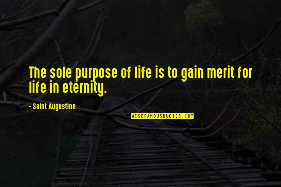 Purpose To Life Quotes By Saint Augustine: The sole purpose of life is to gain