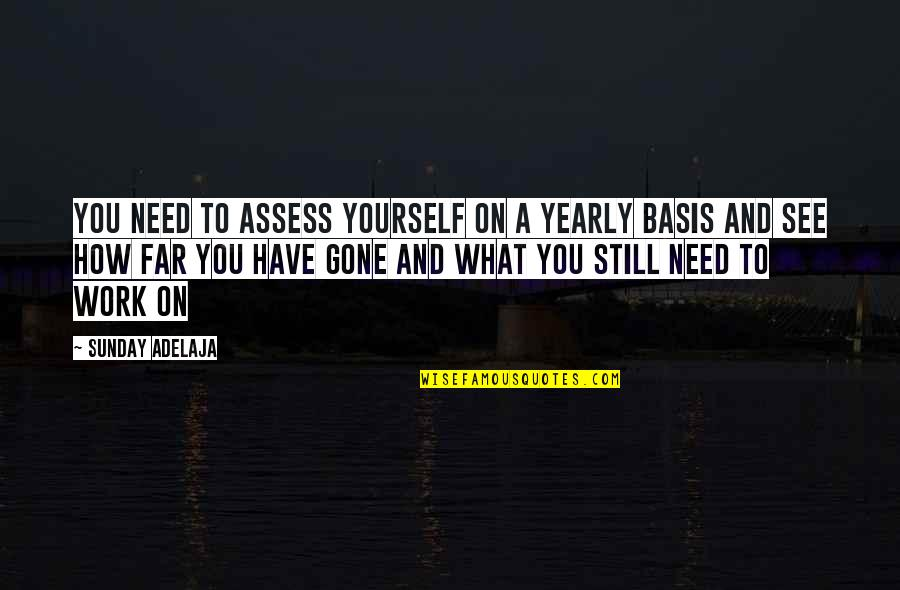 Purpose To Life Quotes By Sunday Adelaja: You need to assess yourself on a yearly
