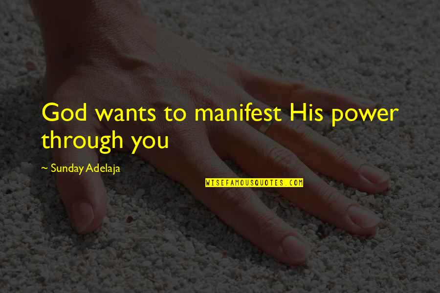 Purpose To Life Quotes By Sunday Adelaja: God wants to manifest His power through you