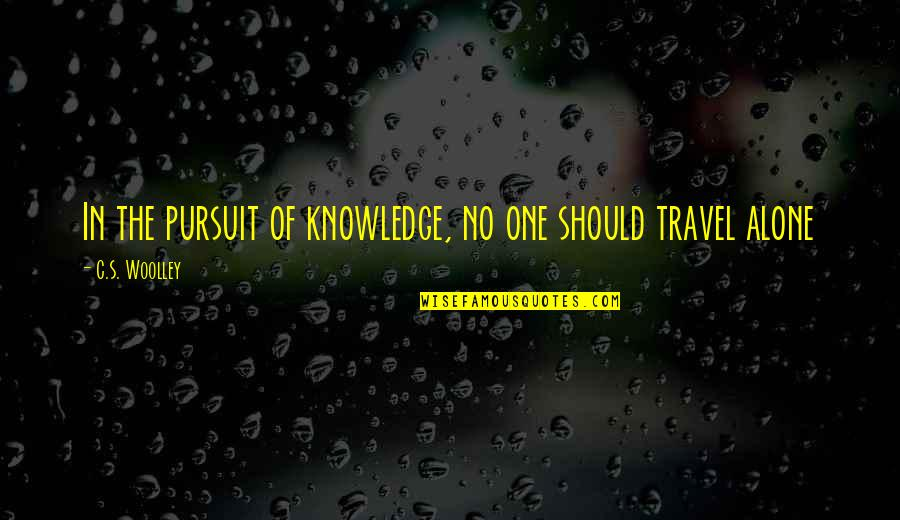 Pursuit Of Knowledge Quotes By C.S. Woolley: In the pursuit of knowledge, no one should