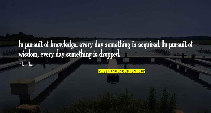 Pursuit Of Knowledge Quotes By Lao-Tzu: In pursuit of knowledge, every day something is