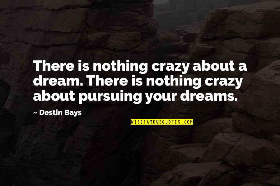 Pursuit Your Dreams Quotes By Destin Bays: There is nothing crazy about a dream. There