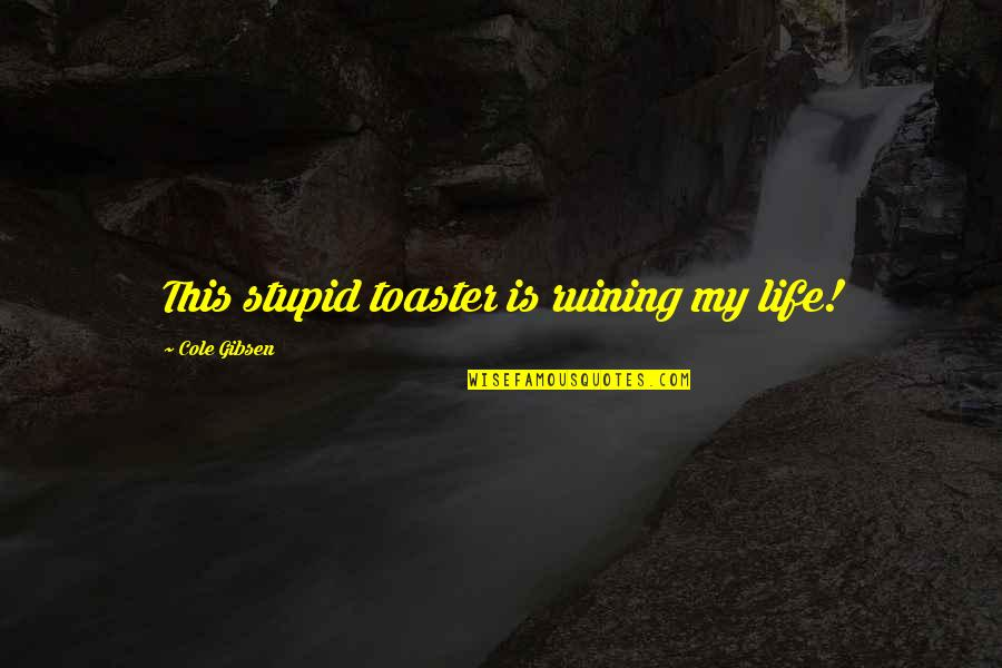 Pusher Love Girl Quotes By Cole Gibsen: This stupid toaster is ruining my life!
