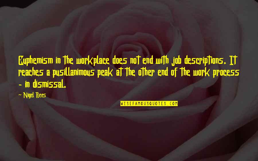 Pusillanimous Quotes By Nigel Rees: Euphemism in the workplace does not end with