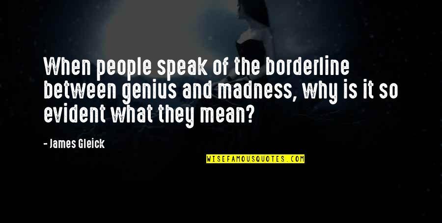 Putot Quotes By James Gleick: When people speak of the borderline between genius