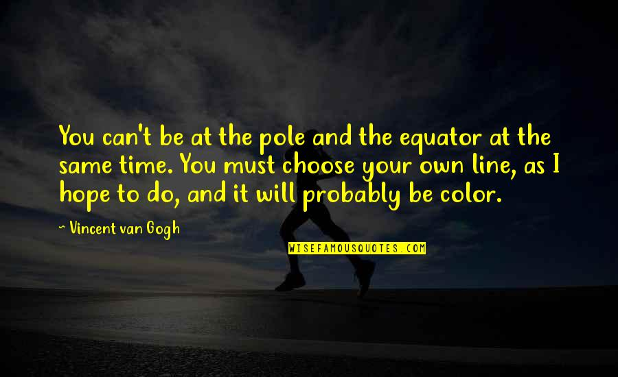 Puttaparthi Sai Baba Quotes By Vincent Van Gogh: You can't be at the pole and the