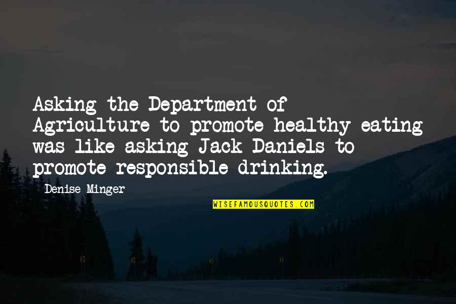 Pyramid Quotes By Denise Minger: Asking the Department of Agriculture to promote healthy