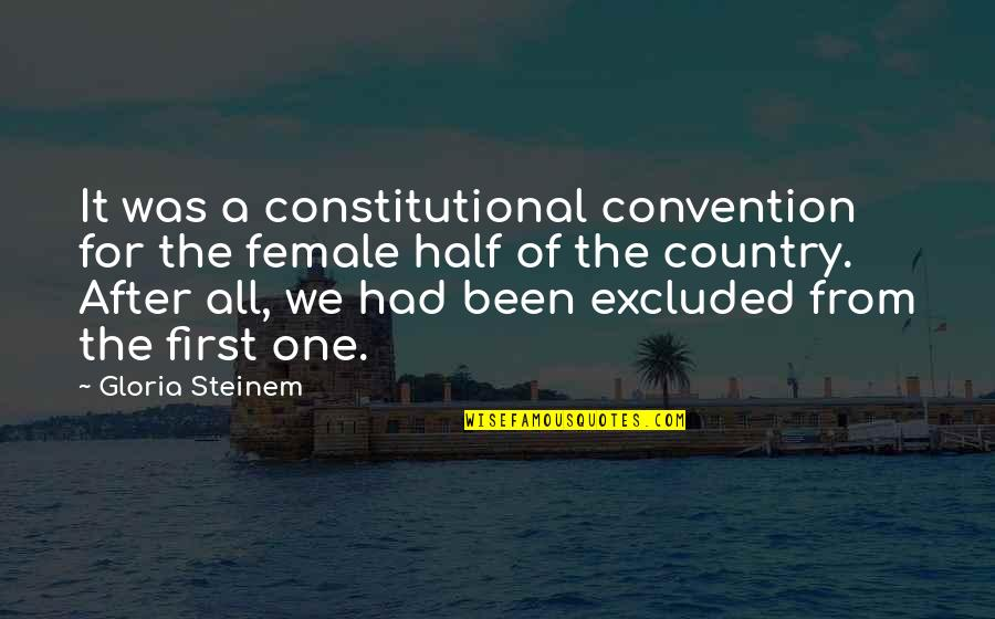 Python Database Escape Quotes By Gloria Steinem: It was a constitutional convention for the female