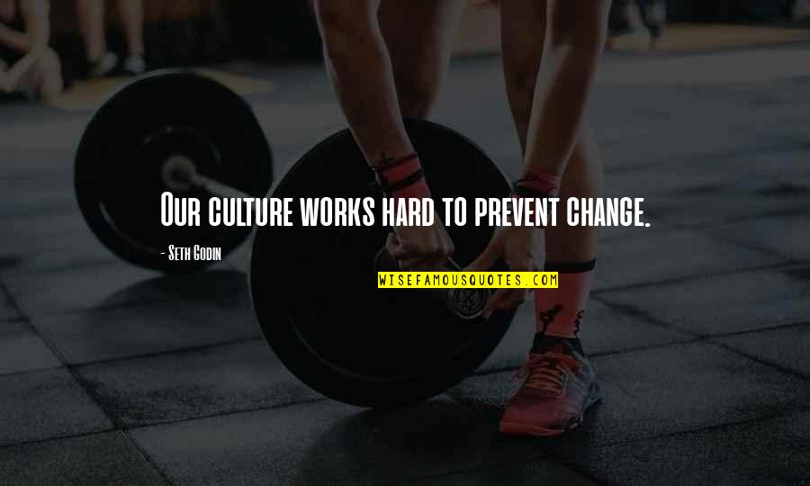 Qatari Quotes By Seth Godin: Our culture works hard to prevent change.